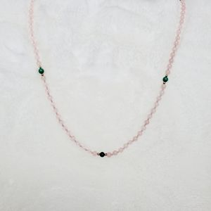 Pink, Green, & Gold Beaded Statement Necklace